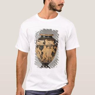 T-shirt Stamnos, scène de Dionysiac, Etruscan rouge-a