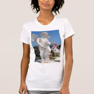 T-shirt Statue d'ange dans le blanc