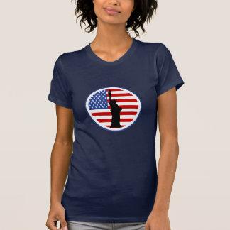 T-shirt Statue de chemise de silhouette de liberté