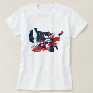 T-shirt Statue des lunettes de soleil de port de liberté