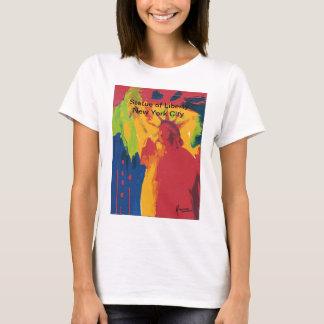 T-shirt Statue vintage d'affiche de voyage de shir de la