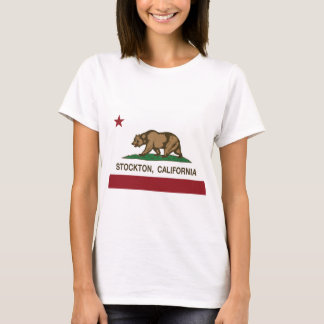 T-shirt stockton de drapeau de la Californie
