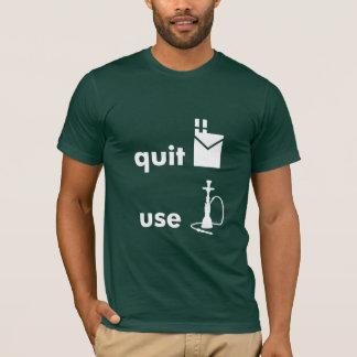 T-shirt Stoppez le narguilé d'utilisation de cigarettes