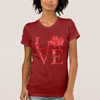 T-shirt Style grunge CANADA d'érable d'AMOUR canadien de