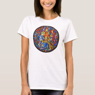 T-shirt Style peint par nativité en verre souillé