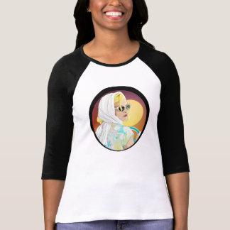 T-shirt style vintage de la chemise 60s d'illustration de