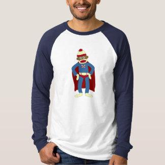 T-shirt Super héros de singe de chaussette