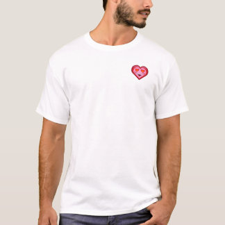 T-shirt superbe d'Emoji de coeur d'amour (en haut