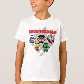 T-shirt Superhéros de merveille de Kawaii
