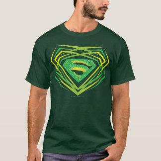 T-shirt Superman a stylisé le logo décoratif vert de |
