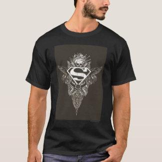T-shirt Superman a stylisé le logo d'étoile et de crâne de