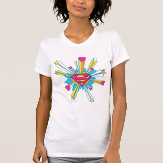 T-shirt Superman a stylisé le rose de | avec le logo de