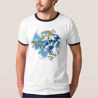 T-shirt Superman   défendant la planète