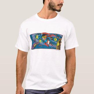 T-shirt Superman et vol de Supergirl