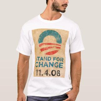 T-shirt Support pour le changement Obama