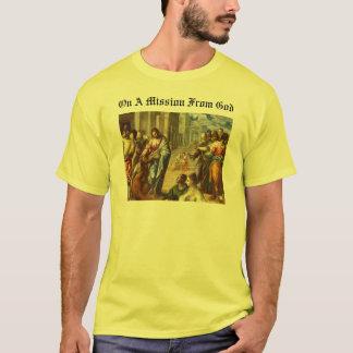 T-shirt Sur une mission de Dieu