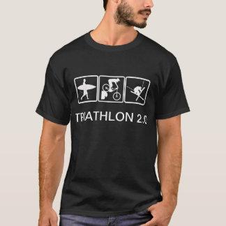 T-shirt Surf, vélo, ski - triathlon 2,0