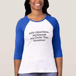 T-shirt Surnom personnalisable de grand-mère
