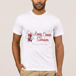 T-shirt Survivant du papillon 2 de cancer de poumon