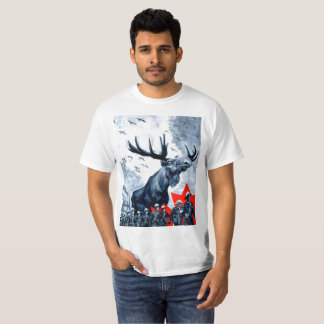 T-shirt Suzerain canadien vindicatif T d'orignaux