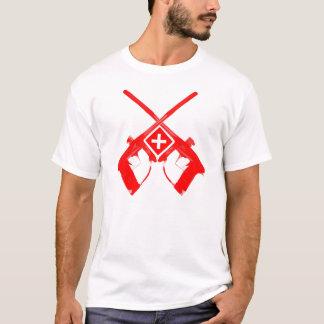 T-shirt Swiss Flag with 2 guns