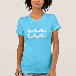 T-shirt Symbole bleu et blanc d'Aqua de Verseau