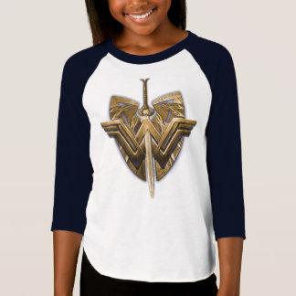 T-shirt Symbole de femme de merveille avec l'épée de la