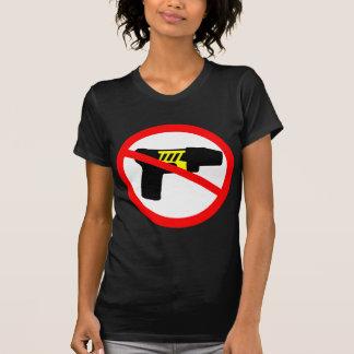 T-shirt Symbole de tazers d'interdiction