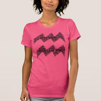T-shirt Symbole de Verseau fait en pièce en t de traits de