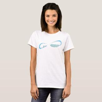 T-shirt Symbole d'infini avec l'amour et la plume