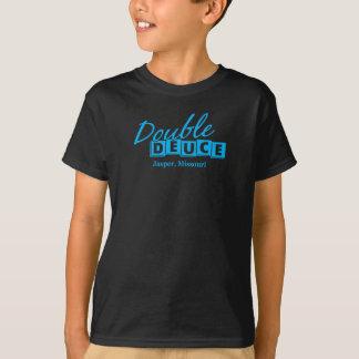 T-shirt Symbole graphique de double de deux de jaspe logo