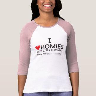 T-shirt Syndrome de Down : J'aime des homies avec le