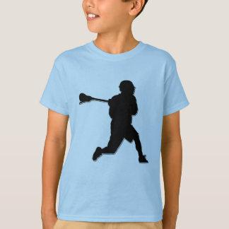 T-shirt T de l'enfant de joueur de lacrosse
