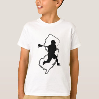 T-shirt T de l'enfant de lacrosse de NJ
