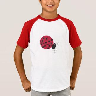 T-shirt T des enfants chanceux de Madame insecte