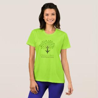 T-shirt T des femmes vertes de CREGO PMD