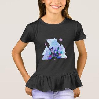 T-shirt T noirs d'étoiles de mer