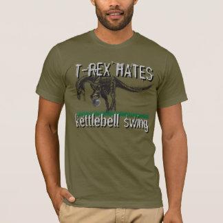 T-shirt T-REX hates kettlebell swingue