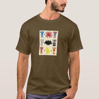T-shirt T-shirt, brun, super héros