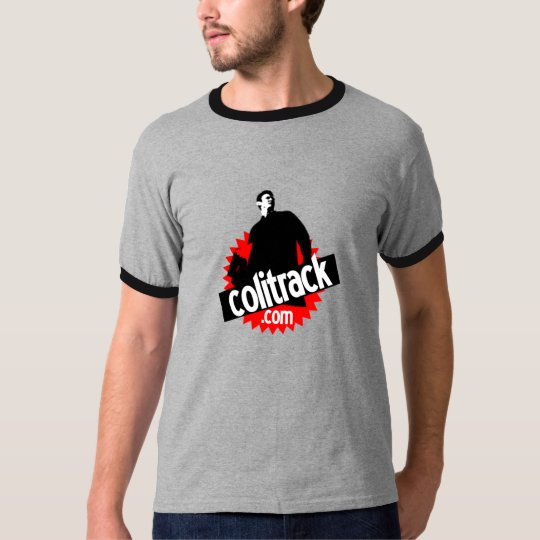 T-shirt T shirt gris col noir