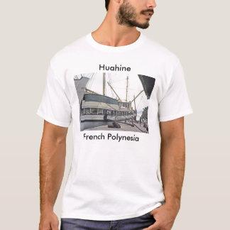 T-shirt T-shirt, le dock chez Huahine, Polynésie française