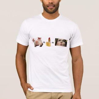 T-shirt T-shirt/porc + Rouge à lèvres = Sara Palin