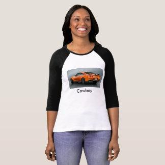 T-shirt T-strits de femme de tube de cowboy