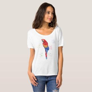 T-shirt Tableau peint par perroquet tropical