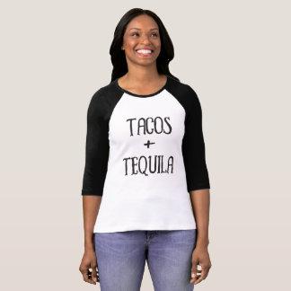 T-shirt Tacos et fille de partie de tequila