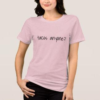 T-shirt tacos n'importe qui dessus drôles d'été de mode de