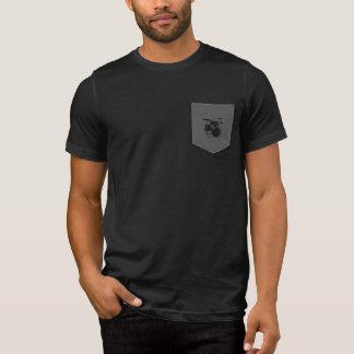 T-shirt tambours. batteur. musique