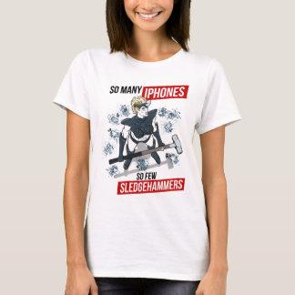 T-shirt Tant d'iPhones, tellement peu de marteaux de