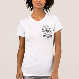 T-shirt Tardigrades sur le dos, Haekel dans l'avant