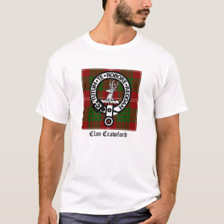T-shirt Tartan de crête de Crawford de clan